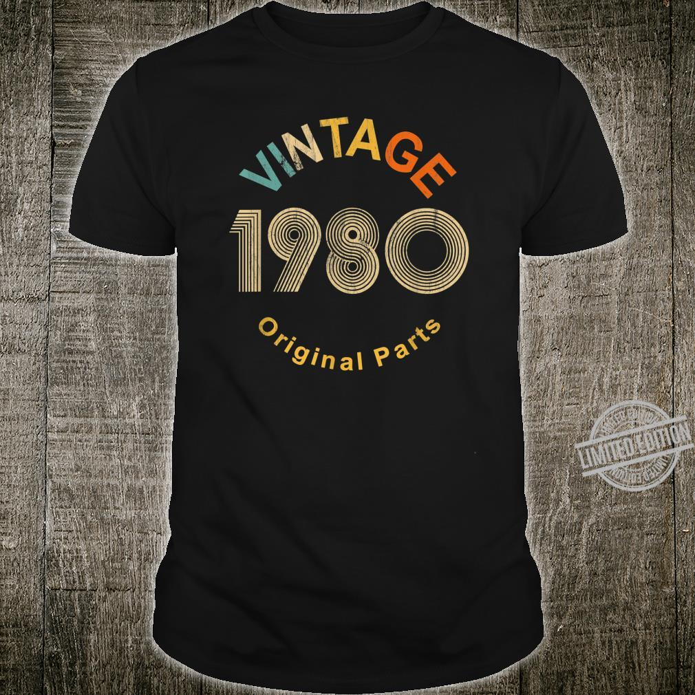 Vintage 1980 40 Years Old Shirt 40th Birthday Shirt