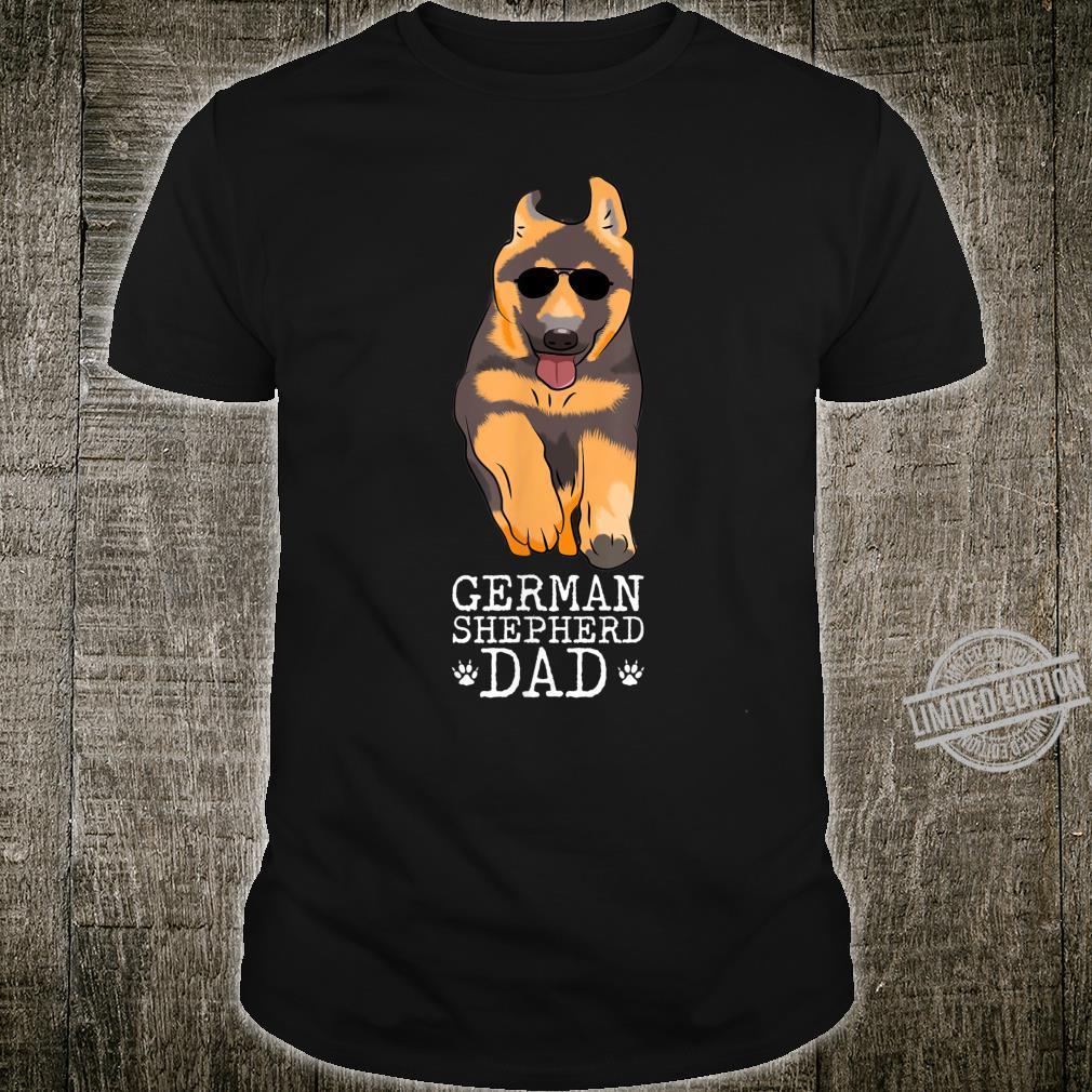 Vintage German Shepherd Dad Dog For Papa, Father Shirt