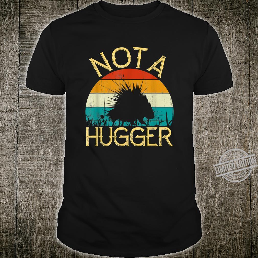 Vintage Not A Hugger Hedgehog Retro Wonderful Costume Shirt