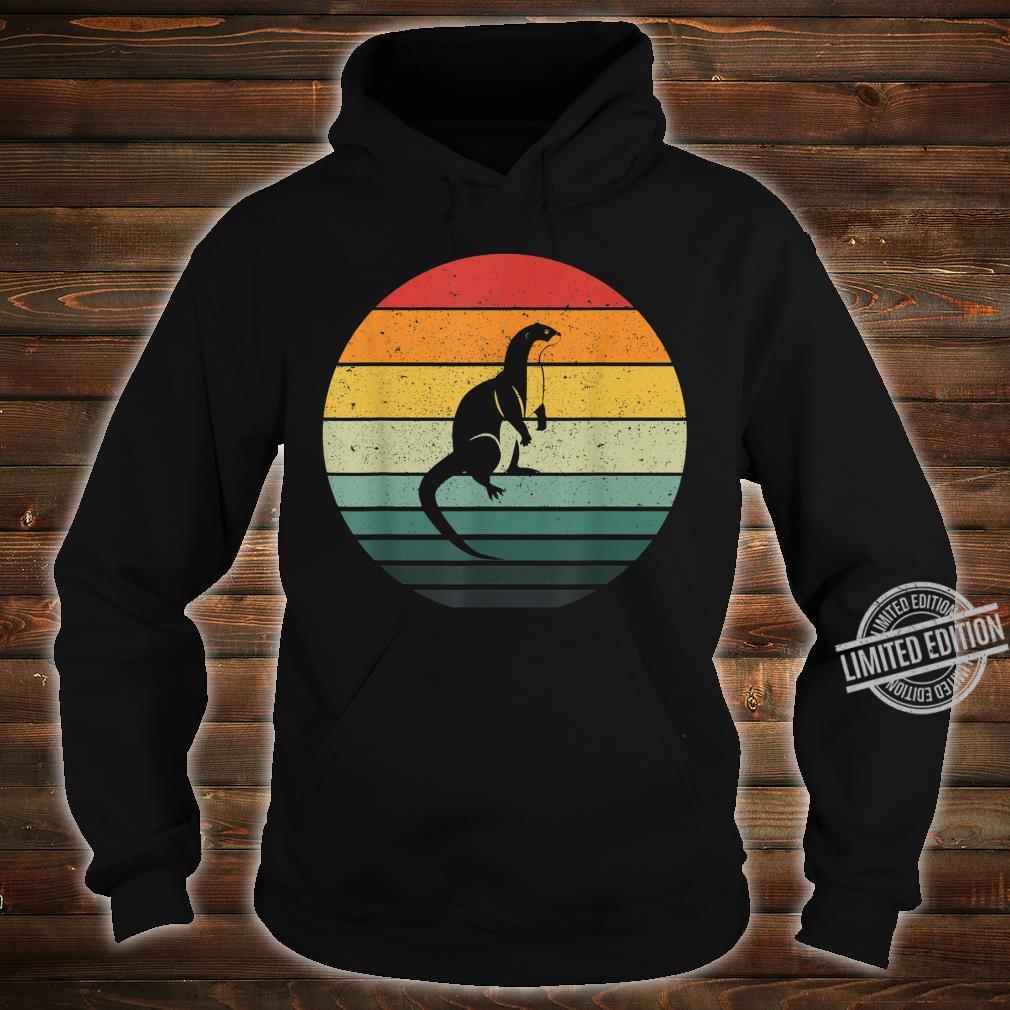 Vintage Retro Sunset Otter Shirt hoodie