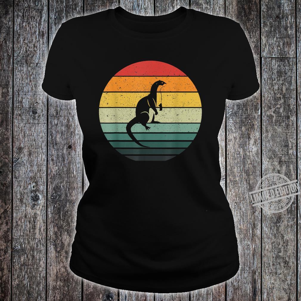 Vintage Retro Sunset Otter Shirt ladies tee