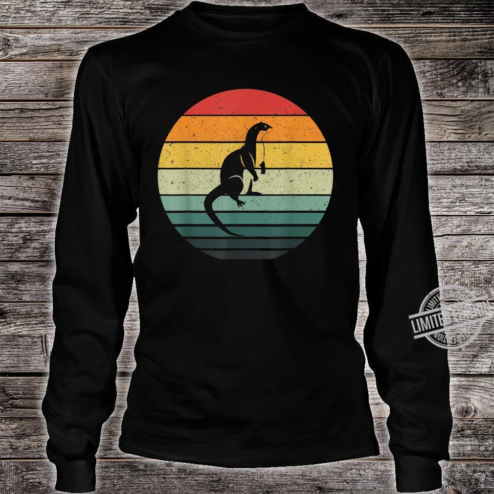 Vintage Retro Sunset Otter Shirt long sleeved