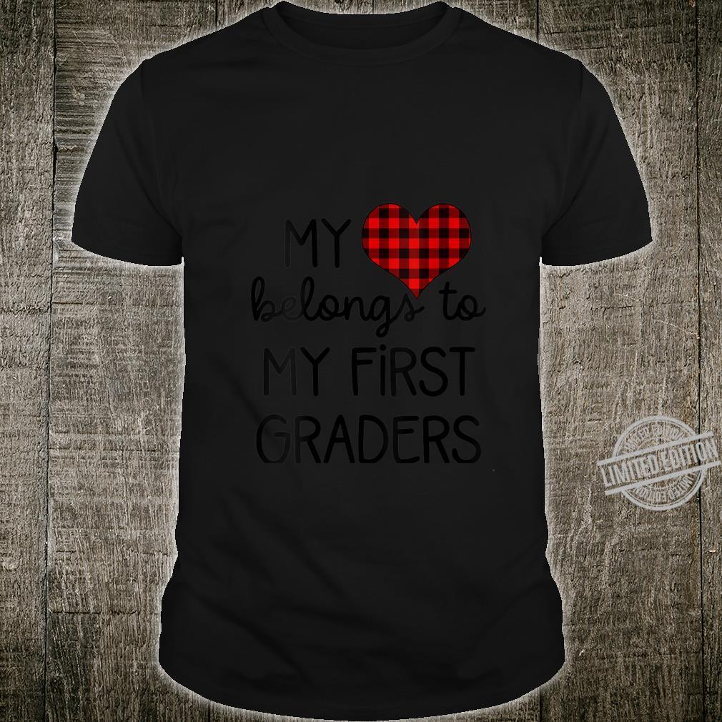 Womens Cute Sweet Valentines Day Idea for 1st Grade Teacher Shirt