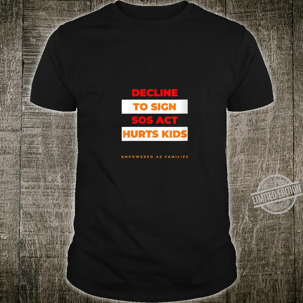 Womens Decline to Sign SOS Act Style 2 Shirt