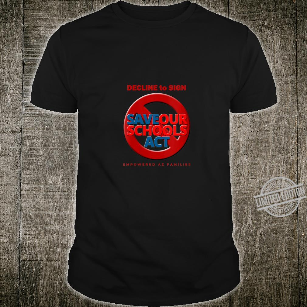 Womens Decline to Sign SOS Act Style 3 Shirt