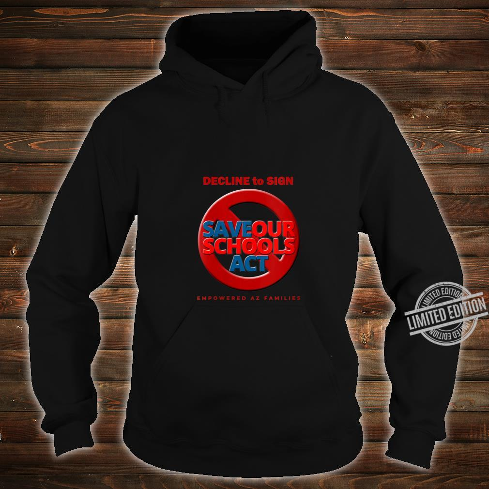 Womens Decline to Sign SOS Act Style 3 Shirt hoodie