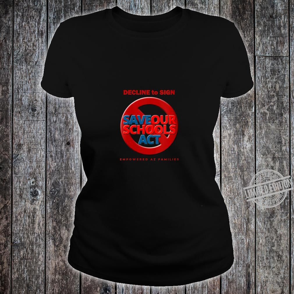 Womens Decline to Sign SOS Act Style 3 Shirt ladies tee