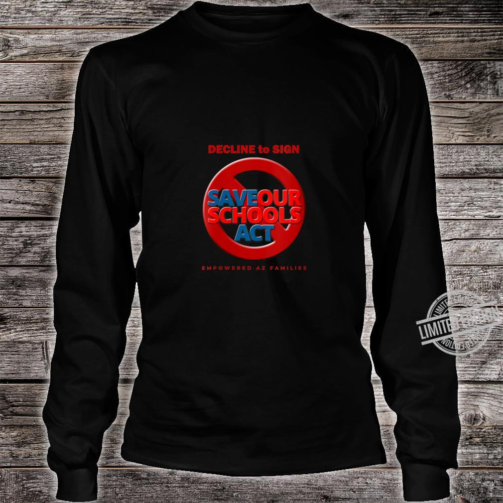 Womens Decline to Sign SOS Act Style 3 Shirt long sleeved