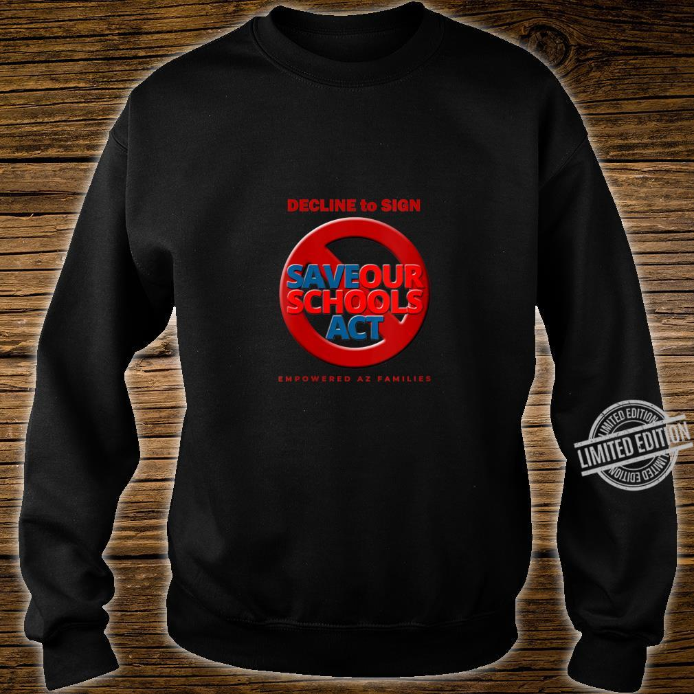Womens Decline to Sign SOS Act Style 3 Shirt sweater