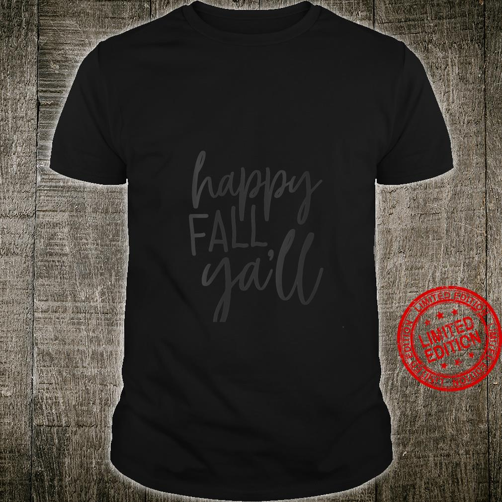 Womens Happy Fall Ya'll Shirt Thankful Blessed Thanksgiving Shirt