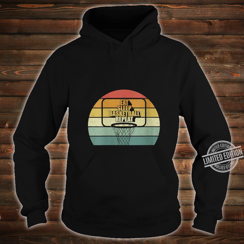 Womens Vintage Retro Eat sleep Basketball Fan Coach Basketball Shirt hoodie