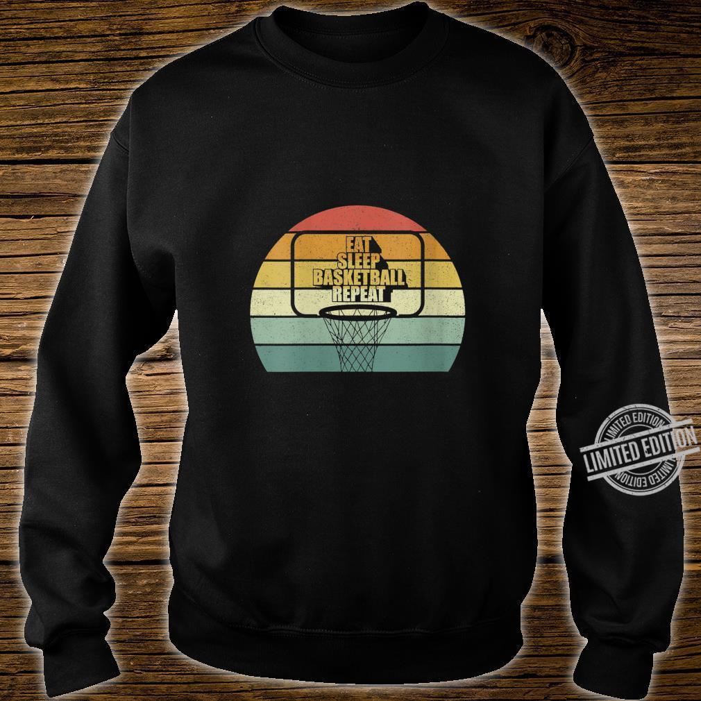 Womens Vintage Retro Eat sleep Basketball Fan Coach Basketball Shirt sweater