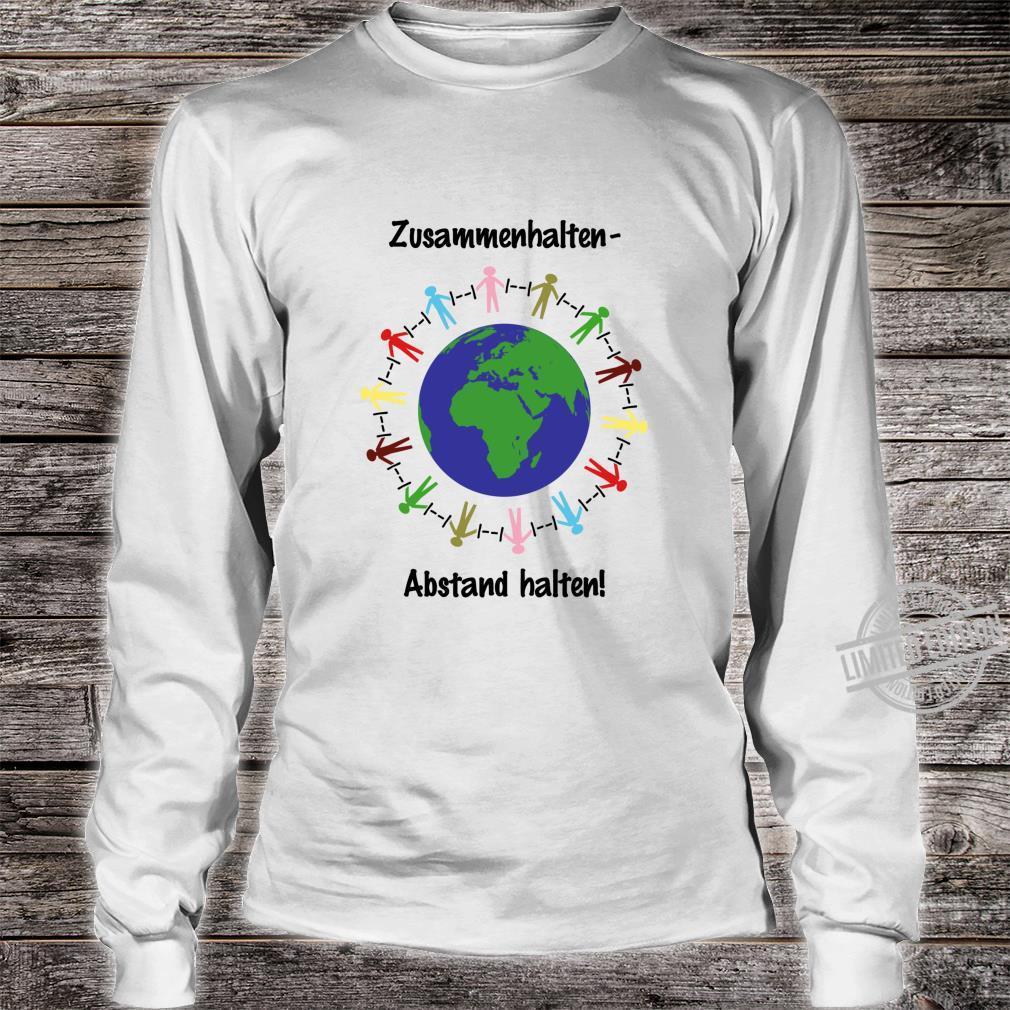 Zusammenhalten Abstand halten Virus Shirt long sleeved